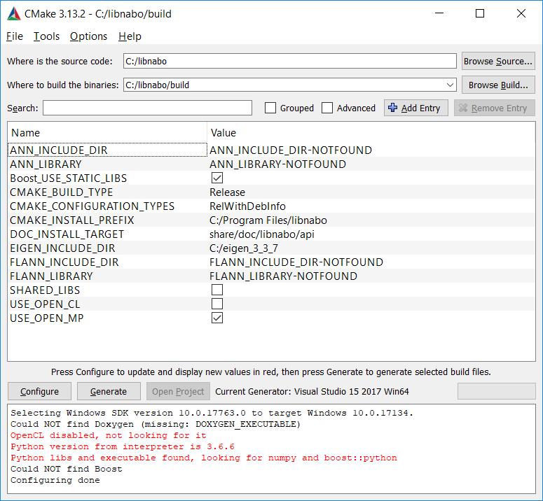 Windows - libpointmatcher